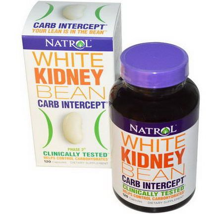 Natrol, Carb Intercept, Phase 2 White Kidney Bean, 120 Capsules