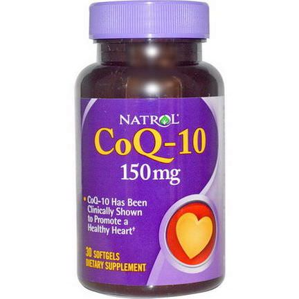 Natrol, CoQ-10, 150mg, 30 Softgels