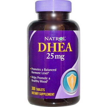 Natrol, DHEA, 25mg, 300 Tablets