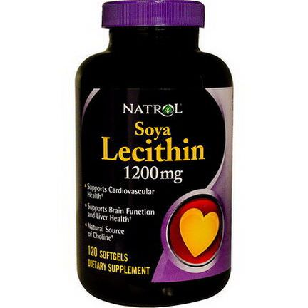 Natrol, Soya Lecithin, 1200mg, 120 Softgels