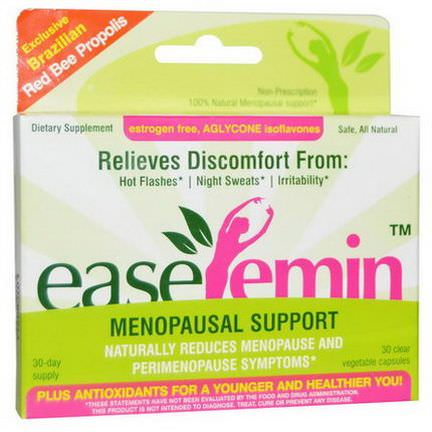 NaturaNectar, EaseFemin, Menopausal Support, 30 Clear Veggie Caps
