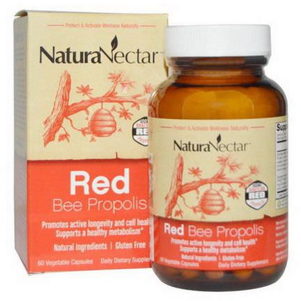 NaturaNectar, Red Bee Propolis, 60 Veggie Caps