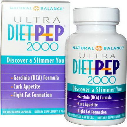 Natural Balance, Ultra Diet Pep 2000, 60 Veggie Caps