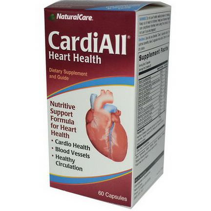 Natural Care, CardiAll, Heart Health, 60 Capsules