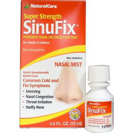 Natural Care, Super Strength SinuFix, Powerful Nasal Decongestant Mist 15ml