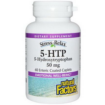 Natural Factors, 5-HTP, 50mg, 60 Enteric Coated Caplets