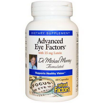 Natural Factors, Advanced Eye Factors, with 15mg Lutein, 60 Capsules