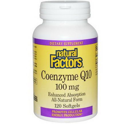 Natural Factors, Coenzyme Q10, 100mg, 120 Softgels