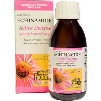Natural Factors, Echinamide Active Defense, Honey Lemon Syrup 150ml