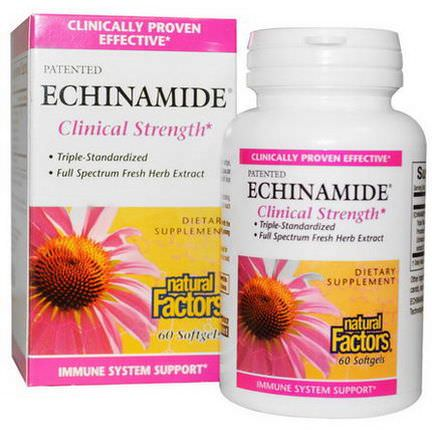 Natural Factors, Echinamide, Clinical Strength, 60 Softgels