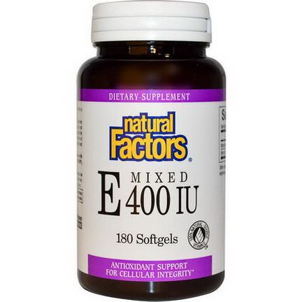 Natural Factors, Mixed E, 400 IU, 180 Softgels