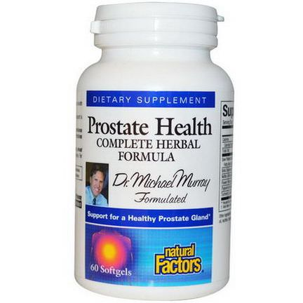 Natural Factors, Prostate Health, Complete Herbal Formula, 60 Softgels