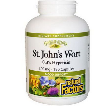 Natural Factors, St. John's Wort, 300mg, 180 Capsules