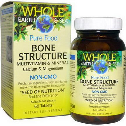 Natural Factors, Whole Earth&Sea, Bone Structure Multivitamin&Mineral, 60 Tablets