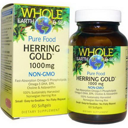 Natural Factors, Whole Earth&Sea, Herring Gold, 1000mg, 60 Softgels