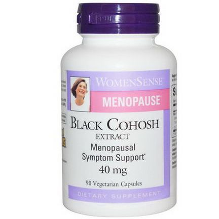 Natural Factors, WomenSense, Menopause, Black Cohosh Extract, 40mg, 90 Veggie Caps