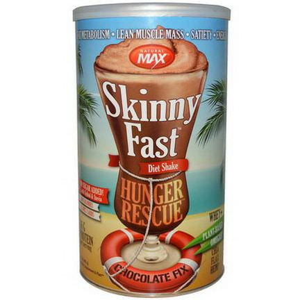 Natural Max, Skinny Fast Hunger Rescue Diet Shake, Chocolate Fix 483g