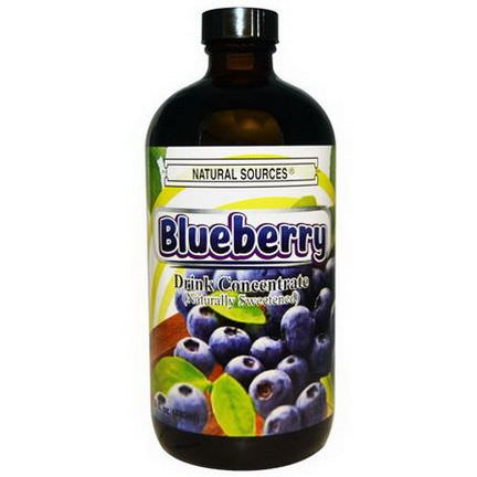 Natural Sources, Blueberry Drink Concentrate, Naturally Sweetened 480ml