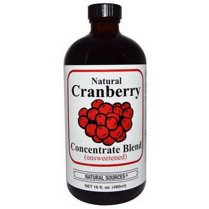 Natural Sources, Natural Cranberry Concentrate Blend, Unsweetened 480ml