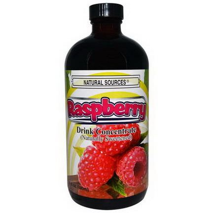 Natural Sources, Raspberry Drink Concentrate, Naturally Sweetened 480ml