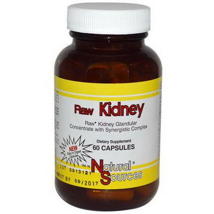 Natural Sources, Raw Kidney, 60 Capsules
