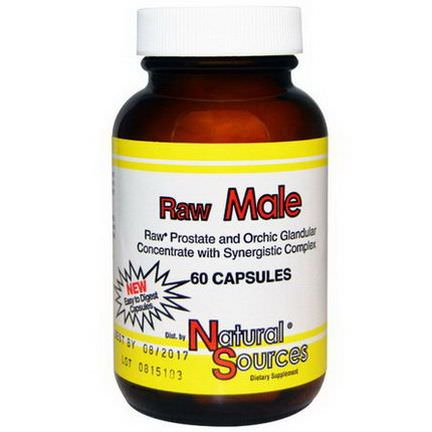 Natural Sources, Raw Male, 60 Capsules
