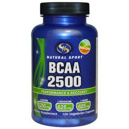 Natural Sport, BCAA 2500, 120 Veggie Caps