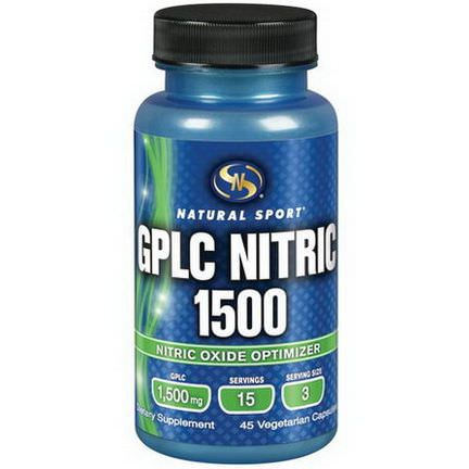 Natural Sport, GPLC Nitric 1500, 45 Veggie Caps