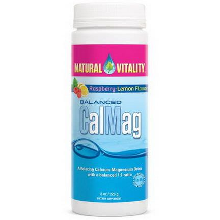 Natural Vitality, Balanced CalMag, Raspberry-Lemon Flavor 226g