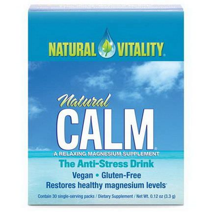 Natural Vitality, Natural Calm, The Anti-Stress Drink, 30 Single-Serving Packs 3.3g Each