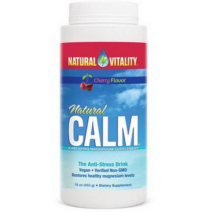 Natural Vitality, Natural Calm, The Anti-Stress Drink, Cherry Flavor 453g