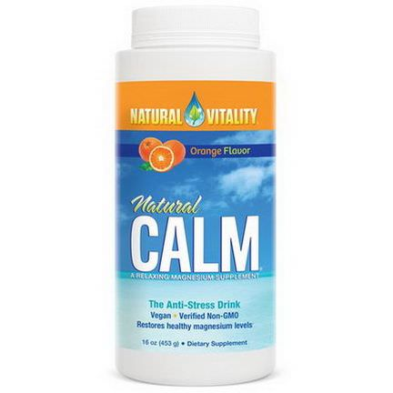 Natural Vitality, Natural Calm, The Anti-Stress Drink, Organic Orange Flavor 453g