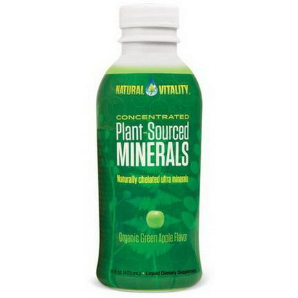 Natural Vitality, Plant-Sourced Minerals, Organic Green Apple Flavor 473ml