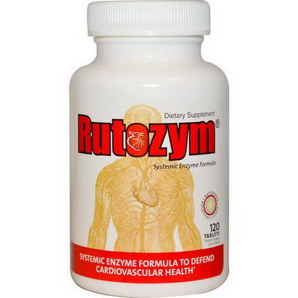 Naturally Vitamins, Rutozym, Systemic Enzyme Formula, 120 Tablets