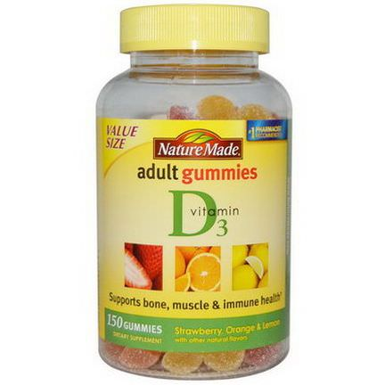 Nature Made, Adult Gummies, Vitamin D3, 150 Gummies
