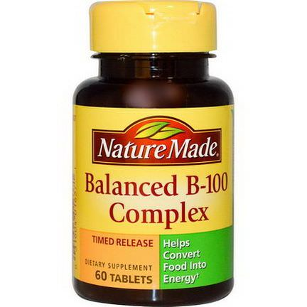 Nature Made, Balanced B-100 Complex, 60 Tablets