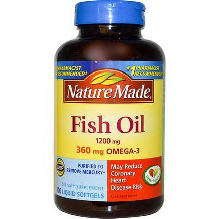 Nature Made, Fish Oil, 1200mg, 100 Liquid Softgels