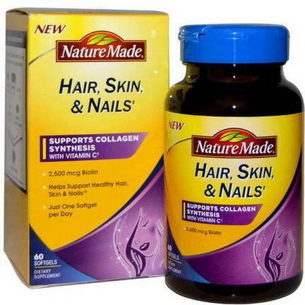 Nature Made, Hair, Skin,&Nails, 60 Softgels