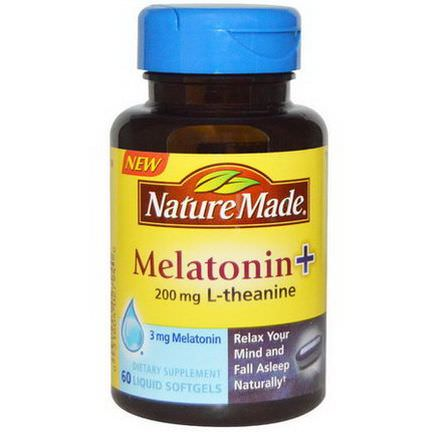 Nature Made, Melatonin L-Theanine, 200mg, 60 Liquid Softgels