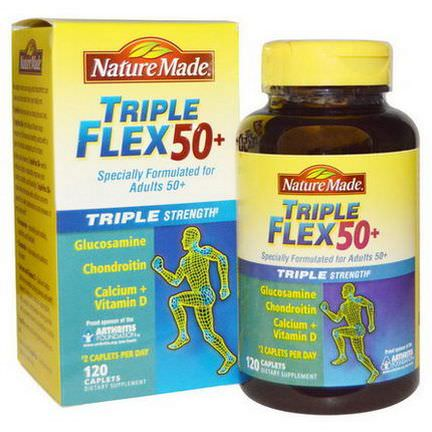 Nature Made, Triple Flex 50+, Triple Strength, 120 Caplets