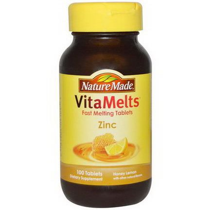 Nature Made, VitaMelts, Zinc, Honey Lemon, 100 Tablets