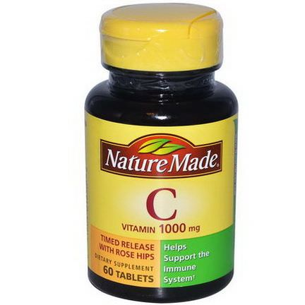 Nature Made, Vitamin C, 1000mg, 60 Tablets