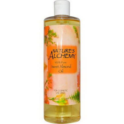 Nature's Alchemy, Sweet Almond Oil 473ml