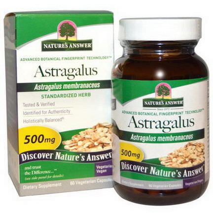 Nature's Answer, Astragalus, 500mg, 60 Veggie Caps