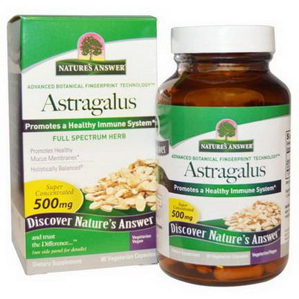 Nature's Answer, Astragalus, 500mg, 90 Veggie Caps