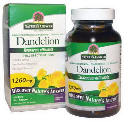 Nature's Answer, Dandelion, 1260mg, 90 Veggie Caps