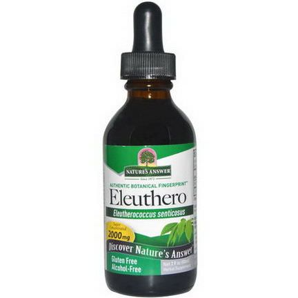 Nature's Answer, Eleuthero, Alcohol-Free, 2000mg 60ml