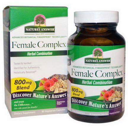 Nature's Answer, Female Complex, Herbal Combination, 800mg, 90 Veggie Caps