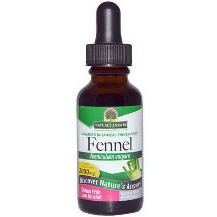 Nature's Answer, Fennel, Low Alcohol, 2000mg 30ml