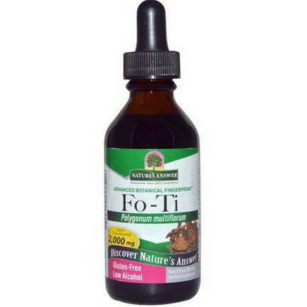 Nature's Answer, Fo-Ti, Low Alcohol, 2,000mg 60ml